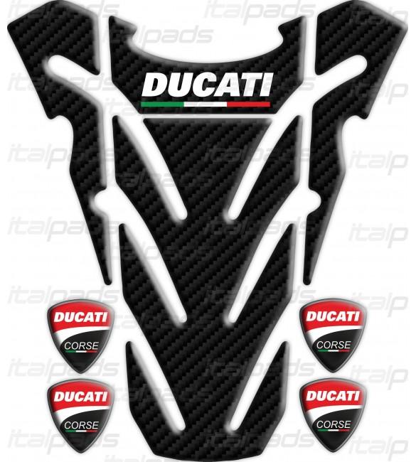 Tank Pad Top Wings For Ducati Monster Carbon Look 4 Italpads