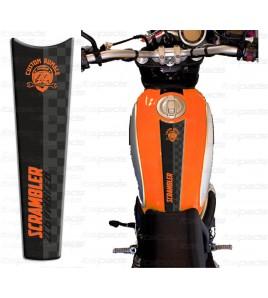 TANK PAD orange for Ducati Scrambler