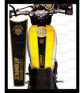 TANK PAD Gold/Black for Ducati Scrambler