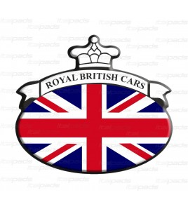 Sticker Union Jack Royal British flag Range Rover B/W