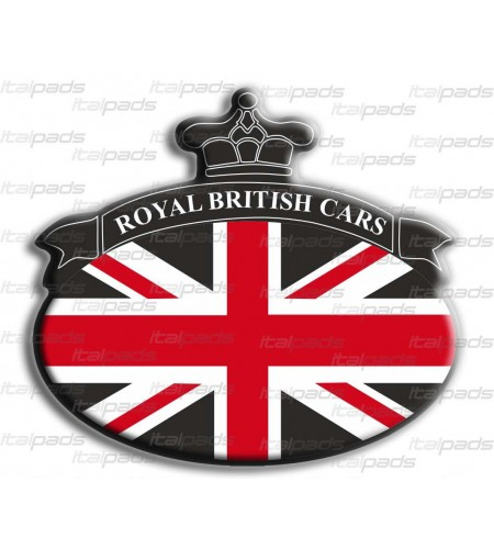 Sticker Union Jack Royal British flag Range Rover Black