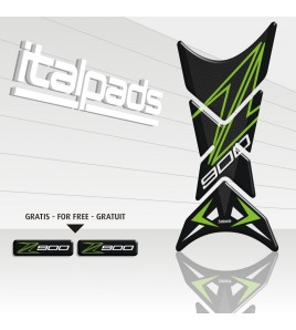 "Tank Pad mod. ""Shark"" for Kawasaki Z900, Honeycomb texture"