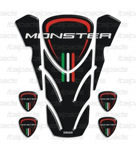 "Tank Pad for DUCATI Corse monster nero ""top wings"" black TANK PAD + 4 free"