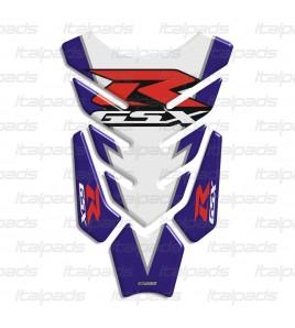 "Tank Pad for SUZUKI GSX-R mod. ""Hyper-Wings"" white-bleu"