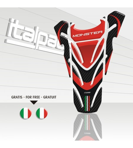"""TANK PAD sticker """"Top wings"""" for Ducati Monster carbon + 2 For free!!"""