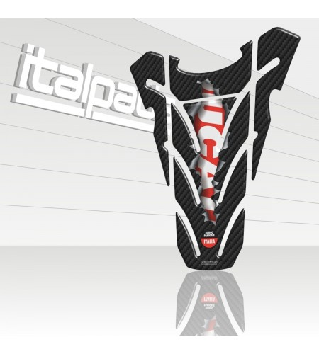 """TANK PAD mod. """"Top wings Ripped"""" carbon look for Ducati Monster"""
