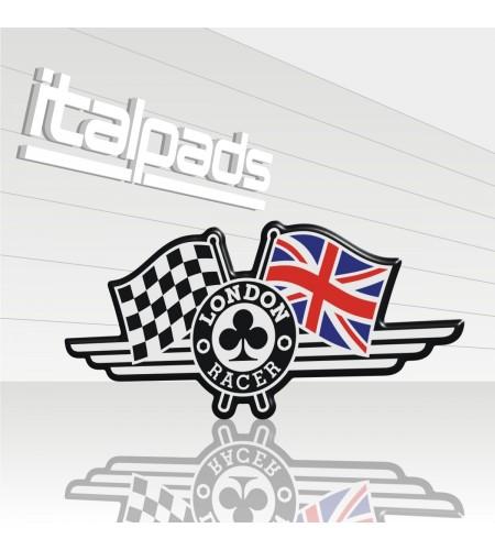 Resin Sticker 3D London Racer flag Union Jack Triumph