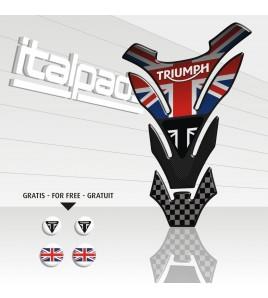 "Tank Pad for Triumph U.K. flag Union Jack mod. ""DETROIT Top"" + 4 FOR FREE!!"