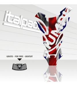 """Tank Pad for Triumph U.K. flag Union Jack """"DETROIT"""""""