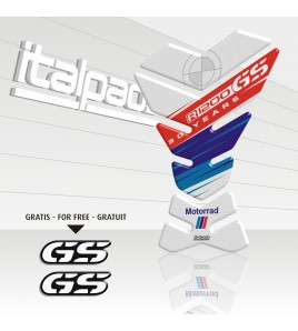 TANK PAD for BMW GS 1200 30th Anniversary Honeycomb white