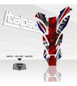 "Tank Pad Triumph U.K. flag Union Jack ""DETROIT"" + 1 sticker FOR FREE"