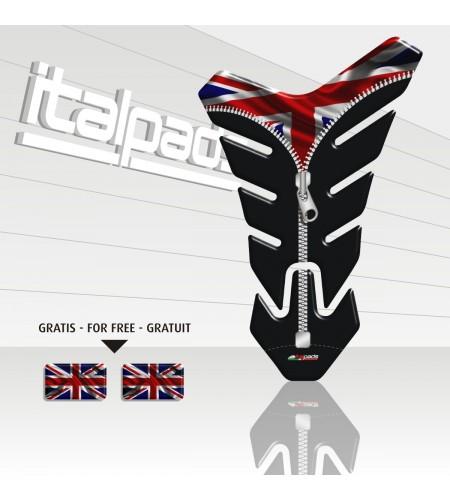 "Tank Pad  mod. ""Nevada ZIP"" for Triumph U.K. flag Union Jack+2"