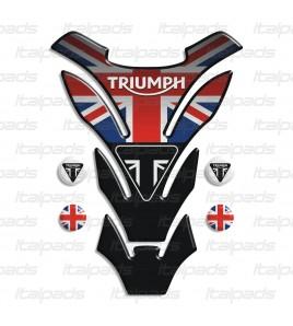 """Tank Pad """"DETROIT Top black"""" for Triumph U.K. flag Union Jack"""