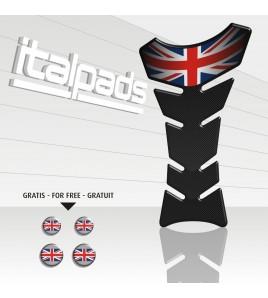 "Tank Pad Union Jack ""Classic"" carbon look Triump+4"