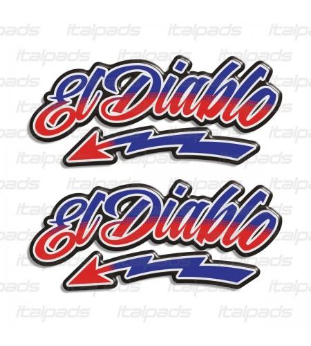 Kit 2 stickers in 3D resin El Diablo tribute Fabio Quartararo 20