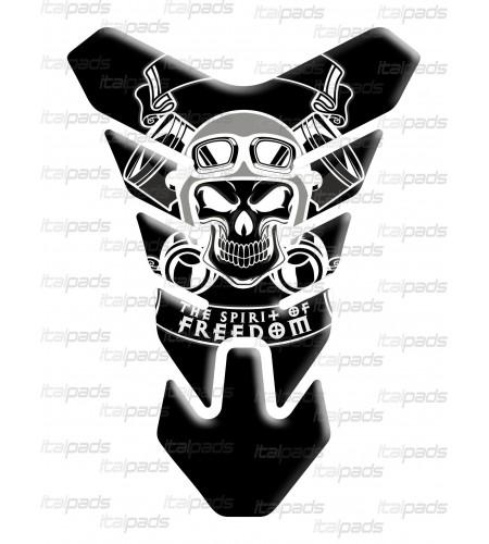 "Resin TANK PAD Skull death's-head ""Nevada"" black"