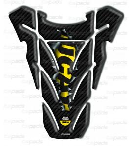 "TANK PAD  ""Top wings Rip"" carbon look/yellow for Ducati Monster"