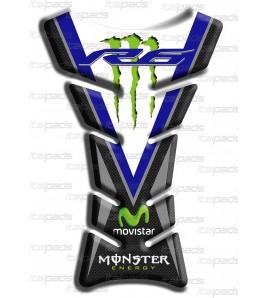 Tank Pad Classic Sport bleu carbon look for Yamaha R6