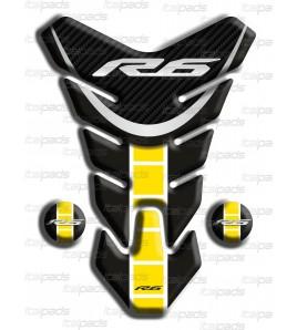 "Tank Pad Yamaha R6  ""Nevada"" black yellow C"