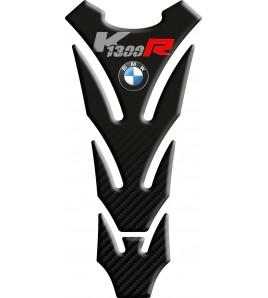 "Tank Pad for BMW K1300R black gradient carbon look ""SLIM"""