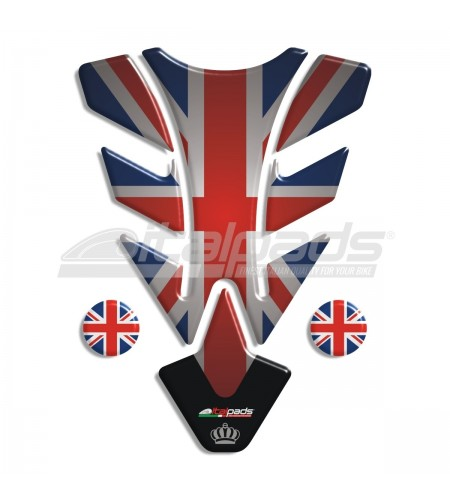 """Tank Pad for Triumph U.K. flag Union Jack (noT) """"Illinois Top"""" + 2 FOR FREE!"""
