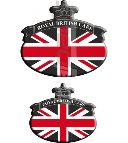 Set. no. 2 Stickers Union Jack Royal British flag Range Rover Black