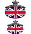 Set. no. 2 Stickers Union Jack Royal British flag Range Rover Black/Gray