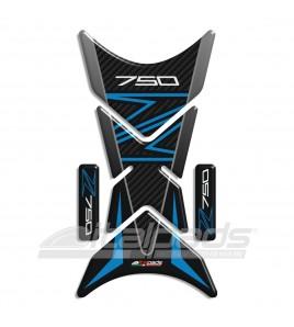 "Tank Pad for Kawasaki Z750 blue/azure, mod. ""Shark""+2 For free"