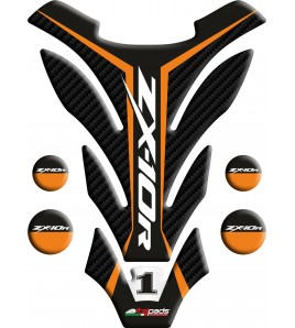 "TANK PAD suitable for Kawasaki ZX10-R orange mod. ""Detroit"""