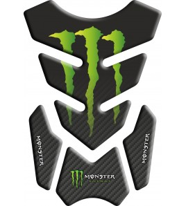 "TANK PAD PROTECTIVE Monster mod. ""3.Wings"" black/carbon look gradient"
