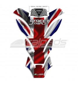 "Tank Pad per Triumph Street Triple ""DETROIT"" + 1 sticker FOR FREE"