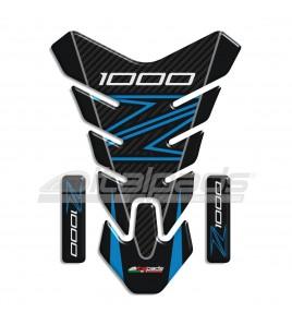 """Tank Pad for Kawasaki Z1000 blue/azure, mod. """"Nevada""""+2"""