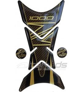 "Tank Pad  mod. ""Shark"" for Kawasaki Z1000 gold-carbon look"