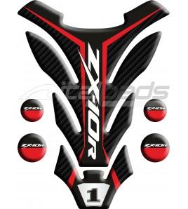 "TANK PAD for Kawasaki ZX10-R red mod. ""Detroit"""