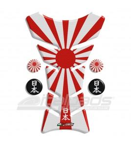 "Tank Pad protector  JAPAN flag HoneyComb ""Classic"" + 4"
