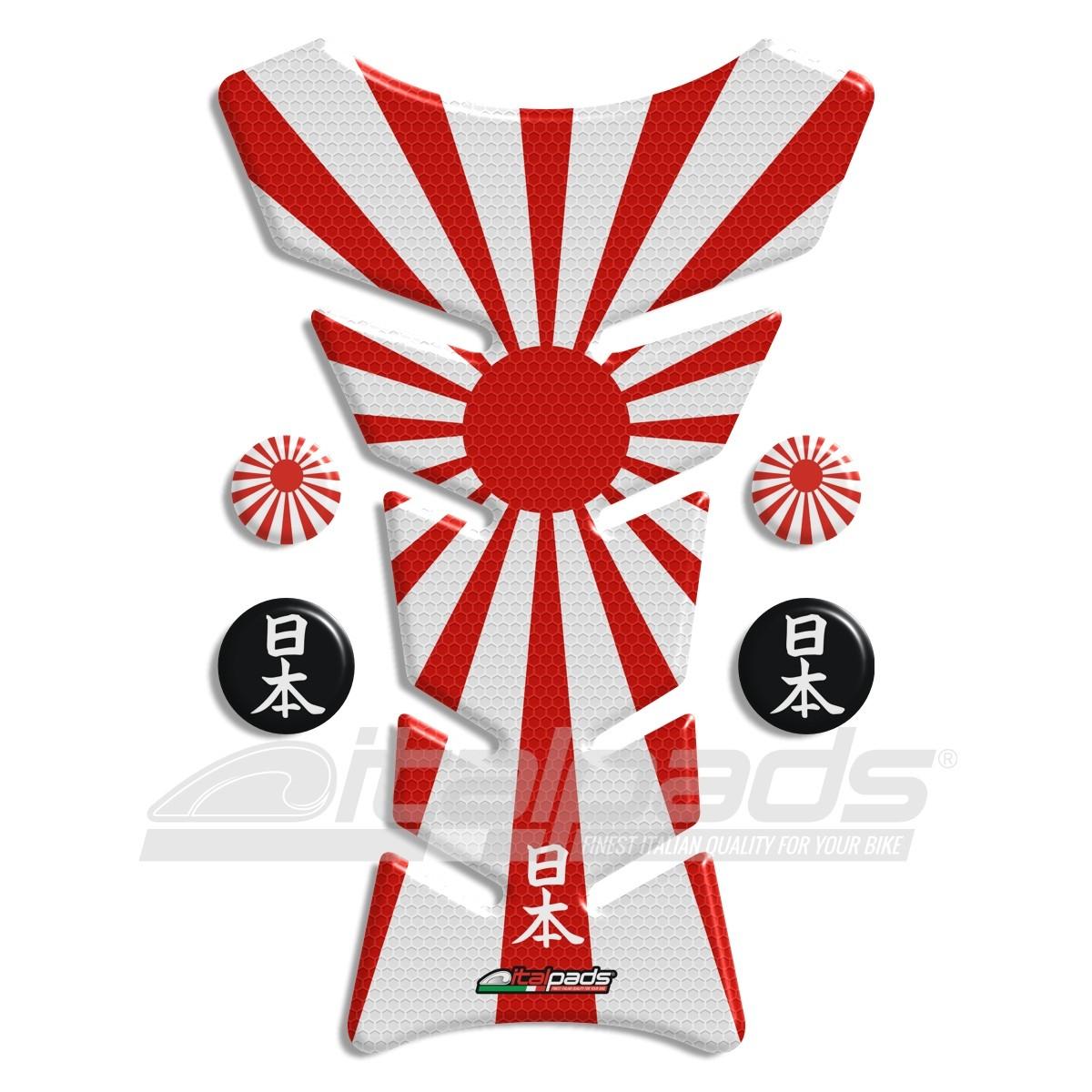 tank pad protector japan flag honeycomb