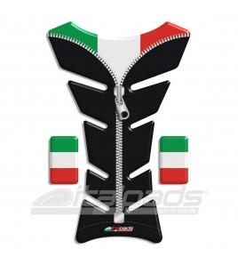 "Tank Pad Italy italian flag black ZIP ""Classic""+2"
