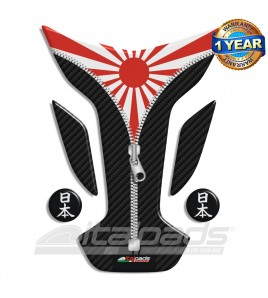 "Tank Pad protector  JAPAN flag ""Wings ZIP"" + 2"