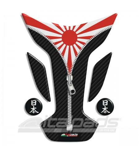 """Tank Pad protector  JAPAN flag """"Wings ZIP"""" + 2"""