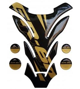 "TANK PAD black-gold for Kawasaki ER6n mod. ""Detroit"""