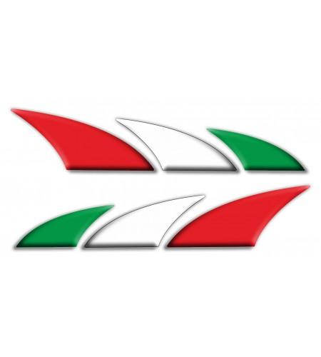 Kit 2 decorative stickers Italy Italian flag for motorbike cars