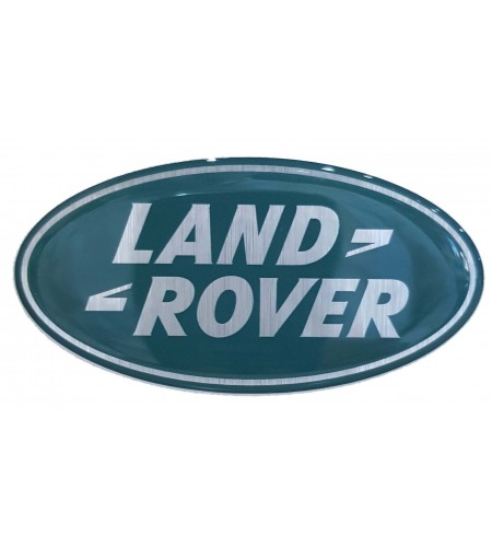 Oval Sticker resined Land Rover mm. 84x43 brushed